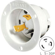 Bryant 70530MB TECHSPEC® Base, L5-30, 30A, 125V, White