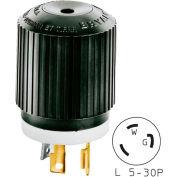 Bryant 70530NP TECHSPEC® Plug, L5-30, 30A, 125V, Black/White