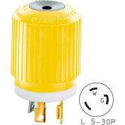 Bryant 70530NPCR TECHSPEC® Plug, L5-30, 30A, 125V, Yellow