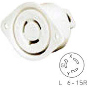 Bryant 70615ER TECHSPEC® Single Receptacle, L6-15, 15A, 250V, White