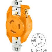 Bryant 70620IG TECHSPEC® Single Receptacle, L6-20, 20A, 250V, Orange