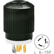 Bryant 70620NP TECHSPEC® Plug, L6-20, 20A, 250V, Black/White