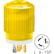 Bryant 70620NPCR TECHSPEC® Plug, L6-20, 20A, 250V, Yellow/White