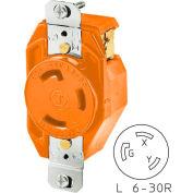 Bryant 70630IG TECHSPEC® Receptacle, L6-30, 30A, 250V, Orange