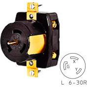 Bryant 70630NC TECHSPEC® Connector, L6-30, 30A, 250V, Black/White