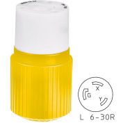 Bryant 70630NCCR TECHSPEC® Plug, L6-30, 30A, 250V, Yellow