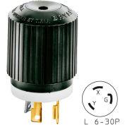 Bryant 70630NP TECHSPEC® Plug, L6-30, 30A, 250V, Black/White