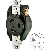 Bryant 70720FR TECHSPEC® Single Receptacle, L7-20, 20A, 277V AC, Black
