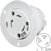 Bryant 70730ER TECHSPEC® Receptacle, L7-30, 30A, 277V AC, White