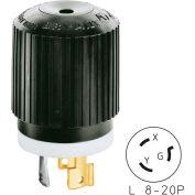 Bryant 70820NP TECHSPEC® Plug, L8-20, 20A, 480V AC, Black/White