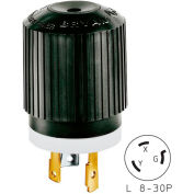 Bryant 70830NP TECHSPEC® Plug, L8-30, 30A, 480V AC, Black/White