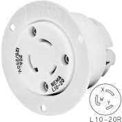 Bryant 71020ER TECHSPEC® Receptacle, L10-20, 20A, 125/250V, White
