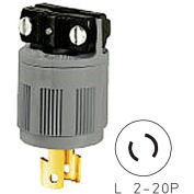 Bryant 7102N Locking Device Connector, L2-20, 15A, 250V, Gray