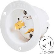 Bryant 71220MB TECHSPEC® Base, L12-20, 20A, 3ph 480V AC, White