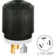 Bryant 71330NP TECHSPEC® Plug, L13-30, 30A, 3ph 600V AC, Black/White