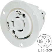 Bryant 71430ER TECHSPEC® Receptacle, L14-30, 30A, 125/250V, White