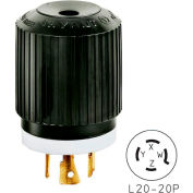 Bryant 72120NPB TECHSPEC® Plug, L21-20, 20A, 3ph 120/208V AC, Black