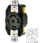 Bryant 72130IG TECHSPEC® Receptacle, L21-30, 30A, 3ph 120/208V AC, Orange