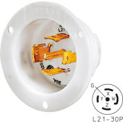 Bryant 72130MB TECHSPEC® Base, L21-30, 30A, 3ph 120/208V AC, White