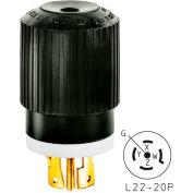 Bryant 72230NP TECHSPEC® Plug, L22-30, 30A, 3ph 277/480V AC, Black/White