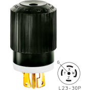 Bryant 72320NP TECHSPEC® Plug, L23-20, 20A, 3ph 347/600V AC, Black/White