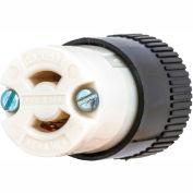 Bryant 7464N TECHSPEC® Midget Connector, ML-1R, 15A, 125V, Black/White