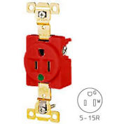 Bryant 8210RED TECHSPEC® Hospital Grade Single Receptacle, 15A, 125V, Red