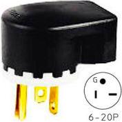 Bryant 8495T TECHSPEC® Straight Blade Plug, 20A, 250V, Clear