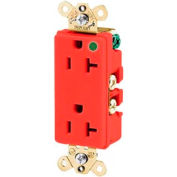 Bryant 9300RED Hospital Grade, 20A, 125V Receptacle, Red