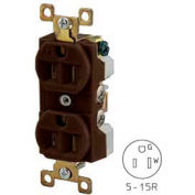 Bryant BRY5262 TECHSPEC® Industrial Grade Duplex Receptacle, 15A, 125V, Brown
