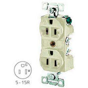 Bryant BRY5292I Combination Receptacle, Ivory, Self Ground