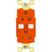 TECHSPEC® Industrial Grade Duplex Receptacle, 20A, 125V, Orange