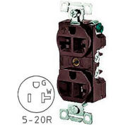 Bryant BRY5492 Combination Receptacle, Brown