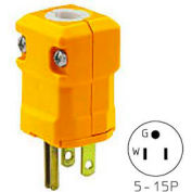Valise Straight Blade Plug, 15A, 125V, Yellow