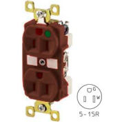 Bryant BRY8200 TECHSPEC® Hospital Grade Duplex Receptacle, 15A, 125V, Brown, Self Ground