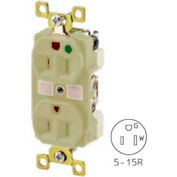 Bryant BRY8200I TECHSPEC® Hospital Grade Duplex Receptacle, 15A, 125V, Ivory, Self Ground