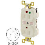 Bryant BRY8300W TECHSPEC® Hospital Grade Duplex Receptacle, 20A, 125V, White, Self Ground