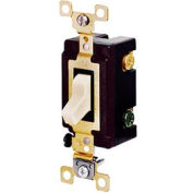 Bryant CSB115BAL Commercial Grade Toggle Switch, Single Pole, 15A, 120/277V AC, Almond