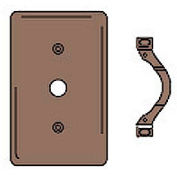 Bryant NP12 Telephone and Coax Plate, 1-Gang, Std, Brown Nylon