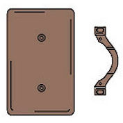 Bryant NP14 Strap Mounted Blank Plate, 1-Gang, Standard, Brown Nylon