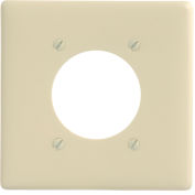 Bryant NP703AL Single Receptacle Plate, 2-Gang 1 Device-Gang, Standard, Almond Nylon