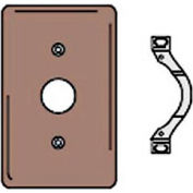Bryant NP730 Telephone and Coax Plate, 1-Gang, Standard, Brown Nylon, Strap