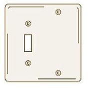 Bryant NPJ113LA Toggle Blank Combo Plate, 2-Gang, Mid-Size, Light Almond Nylon