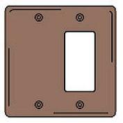 Bryant NPJ1326 Blank Styleline Combo Plate, 2-Gang, Mid-Size, Brown Nylon