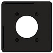 Bryant NPJ703BK Single Receptacle Plate, 2-Gang 1 Device-Gang, Mid-Size, Black Nylon