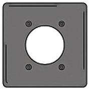 Bryant NPJ703GY Single Receptacle Plate, 2-Gang 1 Device-Gang, Mid-Size, Gray Nylon