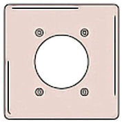 Bryant NPJ703I Single Receptacle Plate, 2-Gang 1 Device-Gang, Mid-Size, Ivory Nylon