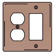Bryant NPJ826 Styleline Rectangular Plate, 3-Gang, Mid-Size, Brown Nylon, Duplex