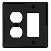 Bryant NPJ826BK Styleline Rectangular Plate, 3-Gang, Mid-Size, Black Nylon, Duplex