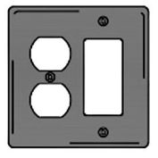 Bryant NPJ826GY Styleline Rectangular Plate, 3-Gang, Mid-Size, Gray Nylon, Duplex